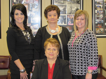 Administrative Department: (Back l-r) Sherrie Chandler, Assistant City Clerk; Rita Garrett, Accounts Payable Clerk; Leanna Morgan, Accounting Clerk; (Front) Mary Lee, City Clerk